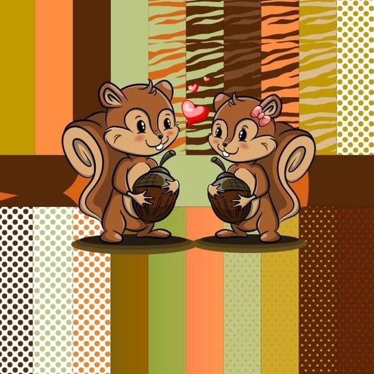 Digistamp Eichörnchen Pärchen  bei Makerist - Bild 1