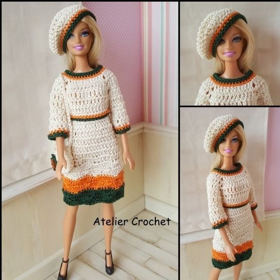 """Néa"" crochet pattern for Barbie at Makerist - Image 1"