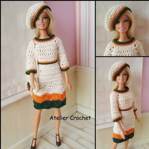 """Néa"" crochet pattern for Barbie at Makerist"