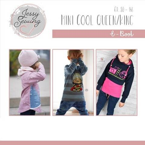 *Mini Cool Queen/King* Shirt, Hoodie, runde Säume, Vokuhila