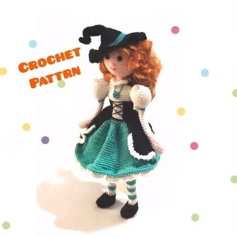 Carolina Doll with witch dress