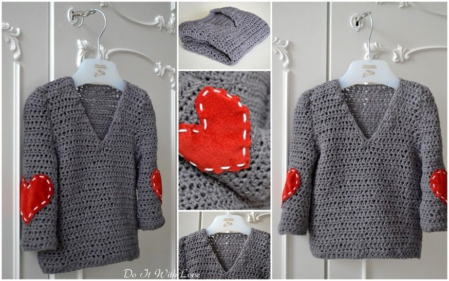 "Häkelanleitung Pulli 2in1 ""Little Hearts"" bei Makerist - Bild 1"