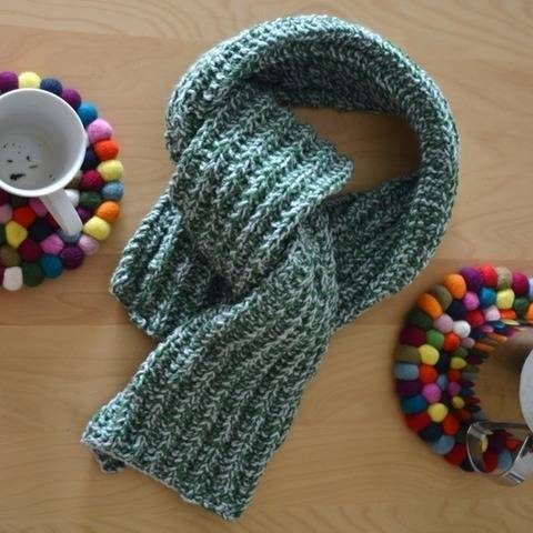 Beginner Scarf Knitting Pattern PDF - Easy men scarf pattern at Makerist