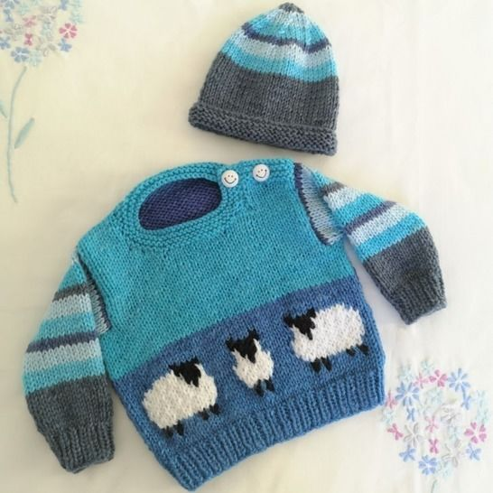 Baby Blue Sheep Sweater and Hat at Makerist - Image 1