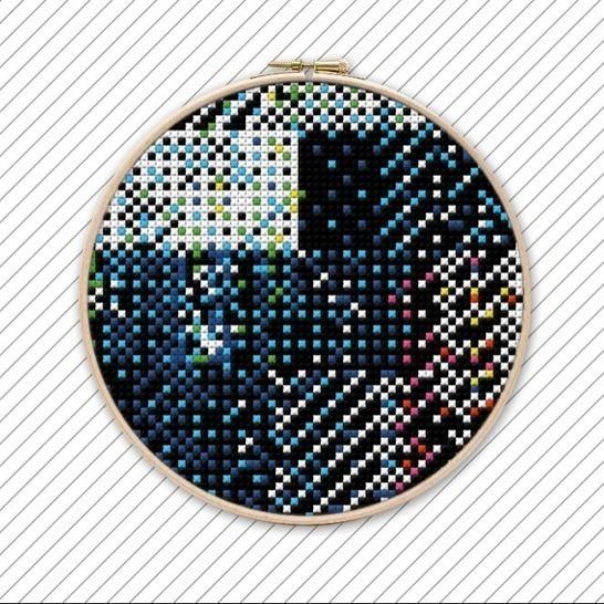 Abstrakte Kreuzstich Stickvorlage . #008 bei Makerist - Bild 1