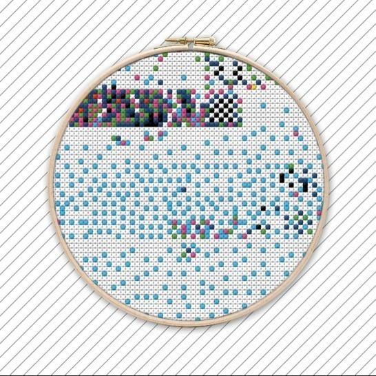 Geometrische Kreuzstich Stickvorlage . #009 bei Makerist - Bild 1