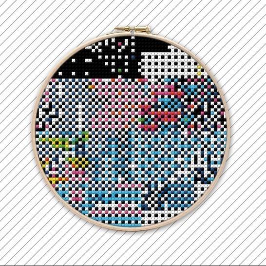 Abstrakt moderne Kreuzstichvorlage . #011 bei Makerist - Bild 1