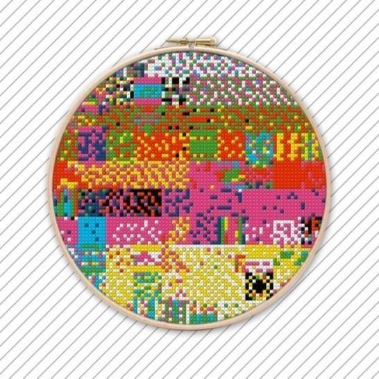 Stickmuster Kreuzstichvorlage Kreuzstich Vorlage . #019 bei Makerist - Bild 1