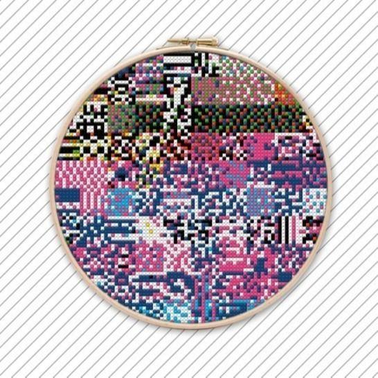 Moderne Kreuzstichvorlage . POLYCHROME #021 bei Makerist - Bild 1