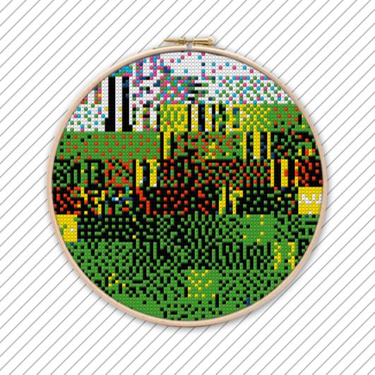 Kreuzstich Sticken Vorlage . POLYCHROME #028