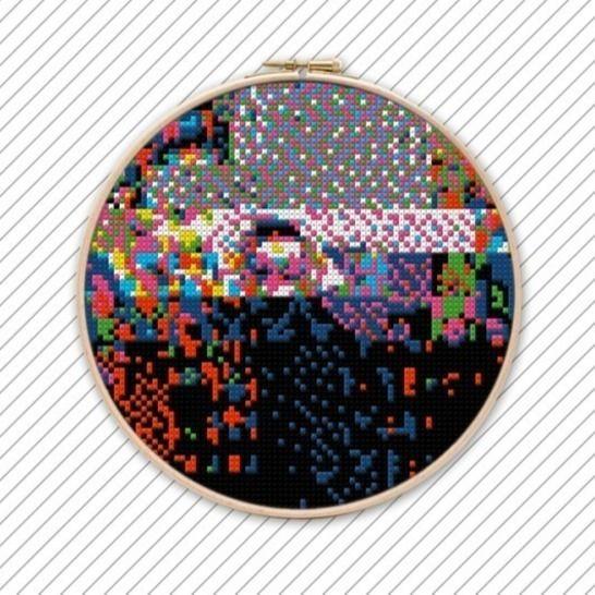 Geometrisch Sticken Vorlage . POLYCHROME #030  bei Makerist - Bild 1