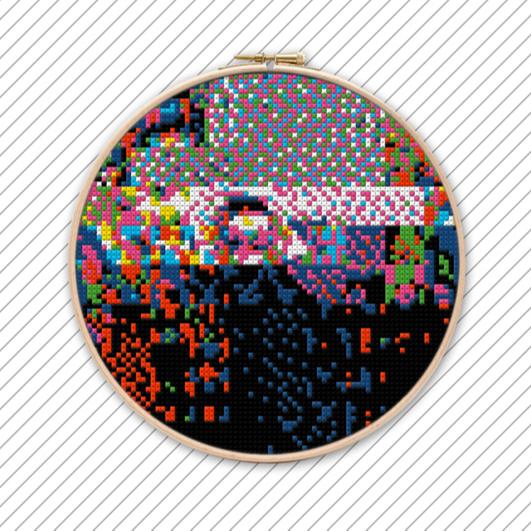 Geometrisch Sticken Vorlage . POLYCHROME #030