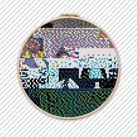 Bunte Kreuzstichvorlage. POLYCHROME #036 bei Makerist