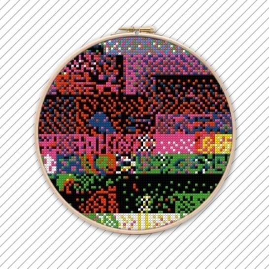 Bunte Kreuzstich Stickanleitung . POLYCHROME #038  bei Makerist - Bild 1
