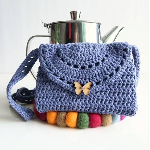 Easy crochet purse pattern - boho crochet bag pattern at Makerist