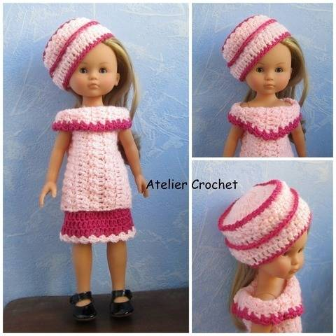 """Pink"" crochet pattern for Chérie Corolle at Makerist"