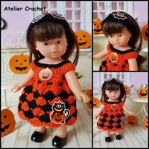 """Halloween Girl"" ensemble crochet poupée Mini Corolline chez Makerist"