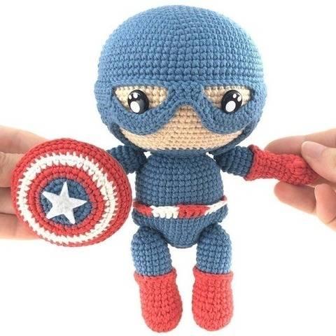 Captain America - patron au crochet chez Makerist