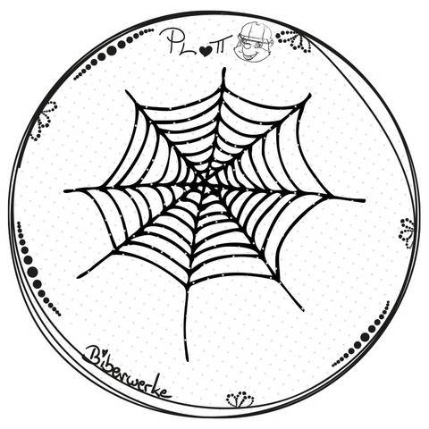 Spinnennetz Plotterdatei Freebie zu Halloween bei Makerist