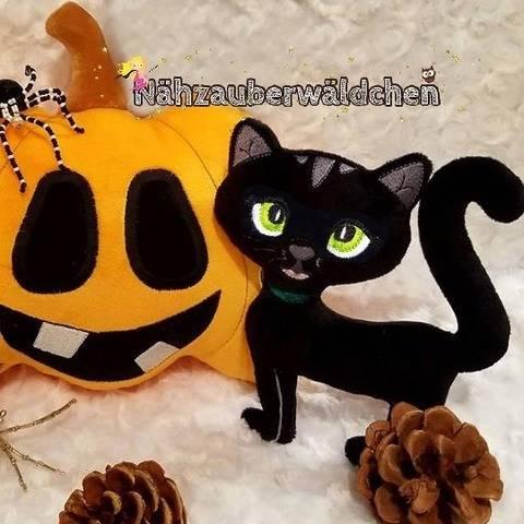 9x Stickdatei KATZE ITH 13x18 Halloween