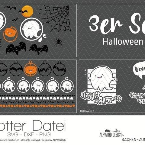"Plotter-Datei ""Halloween"" (3er-Set)"