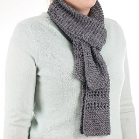 Easy knit scarf pattern - Aircon scarf knitting pattern PDF at Makerist