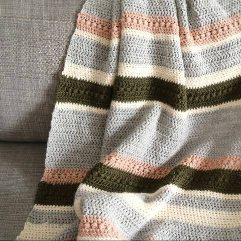 Cozy blanket crochet pattern - throw crochet afghan pattern