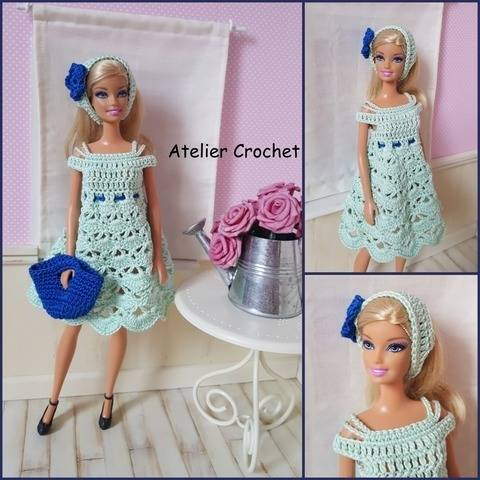 """Jade"" crochet pattern for Barbie at Makerist"