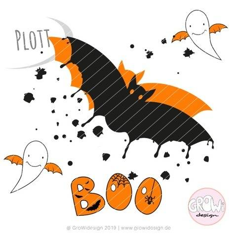 Halloween Boo Plotterdatei  bei Makerist