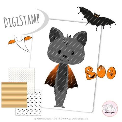 Halloween Boo DigiStamp bei Makerist