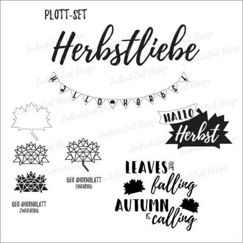 Plotterdatei-Set Herbstliebe bei Makerist