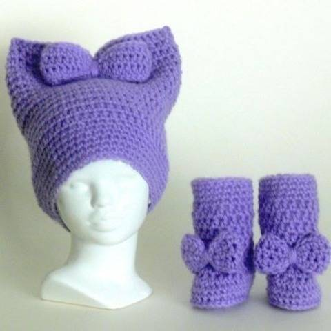 Bonny Baby Bow Hat and Boots at Makerist