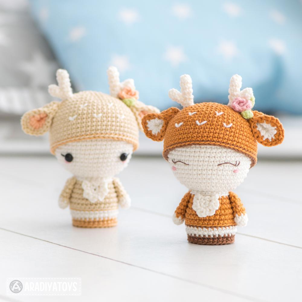 Crochet pattern of Mini Annie the Deer by AradiyaToys