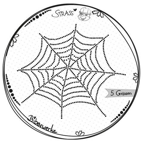 Strass Spinnennetz in 5 Größen für SS06 Strasssteine Bling bei Makerist