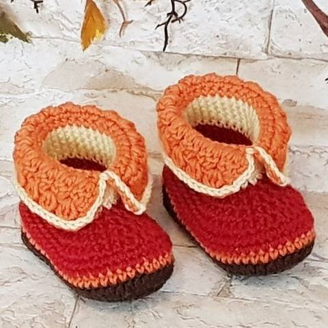 "Baby Booties ""Marly"", 0-6 months – Crochet Pattern at Makerist"