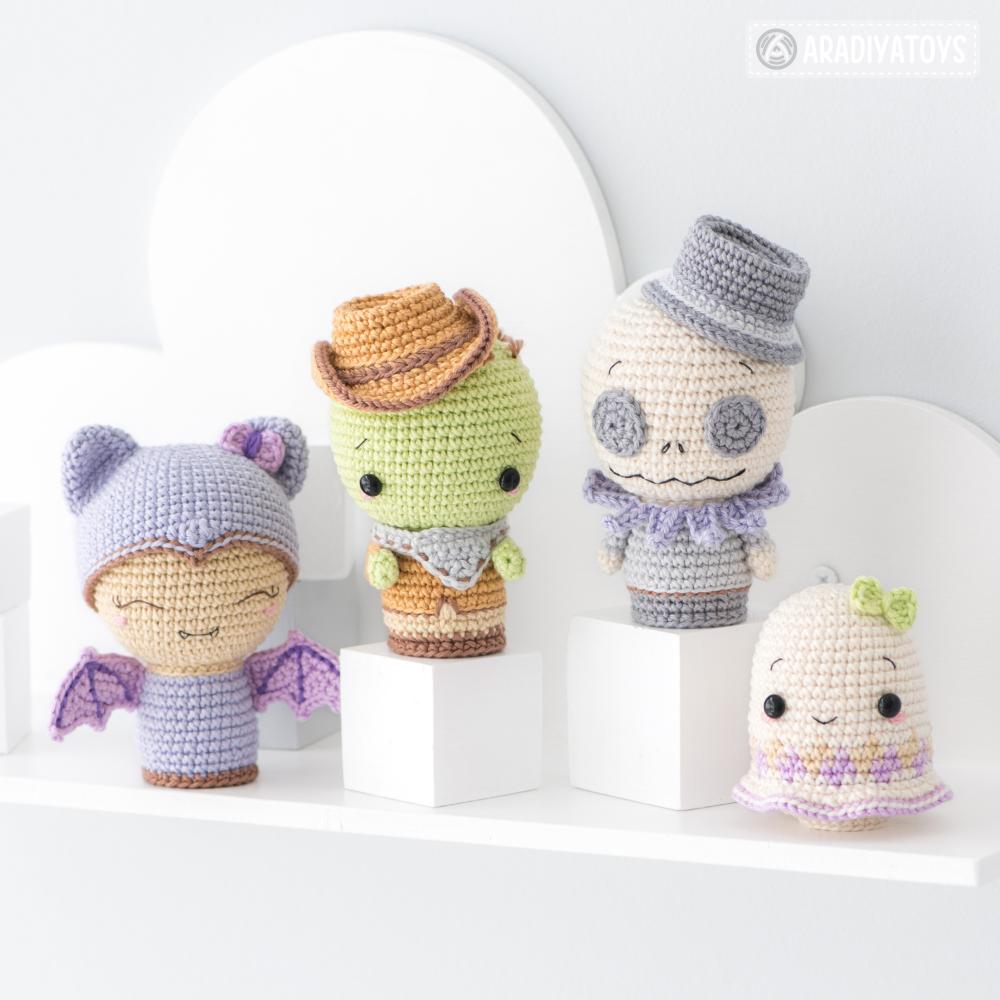 Crochet pattern of Halloween Minis set 2 by AradiyaToys