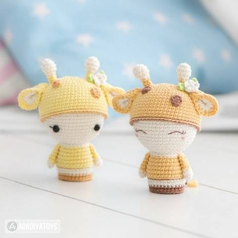 "Mini Sonya la girafe de la collection ""AradiyaToys Minis"""
