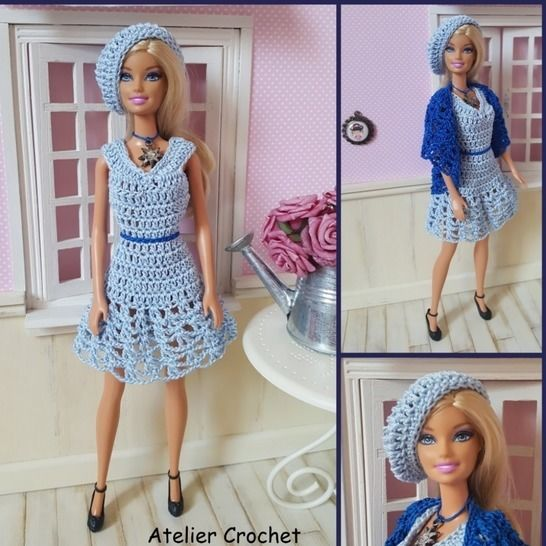 """Béatrice"" crochet pattern for Barbie at Makerist - Image 1"