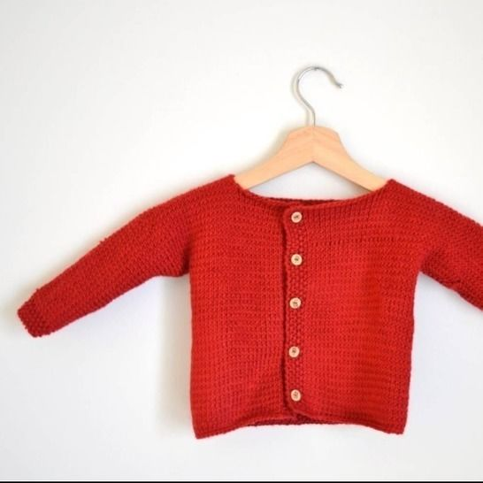 Knit Baby Cardigan Pattern, Flat Knitted Baby Pattern at Makerist - Image 1