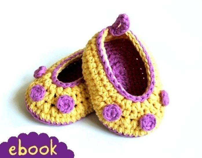 ❤ Häkelanleitung ❤ Banana Baby Ballerinas bei Makerist - Bild 1