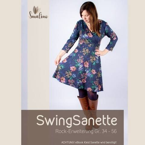 "Erweiterungs-eBook Damen-Kleid ""SwingSanette"" Gr. 34-56 bei Makerist"