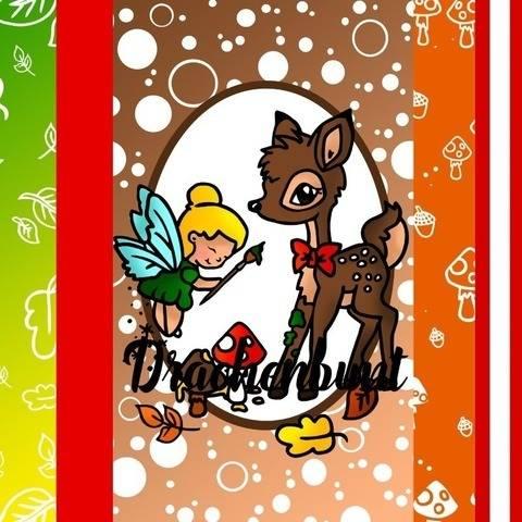 Digi Stamp Set Digi Papier Herbst Tier Fuchs Reh Fee Sprüche bei Makerist