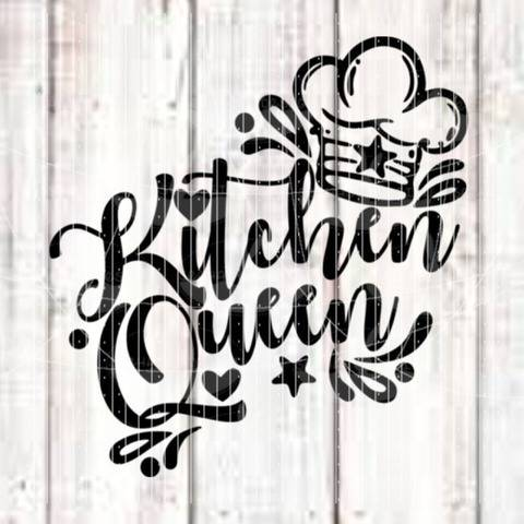 Plotterdatei - Kitchen Queen SVG DXF
