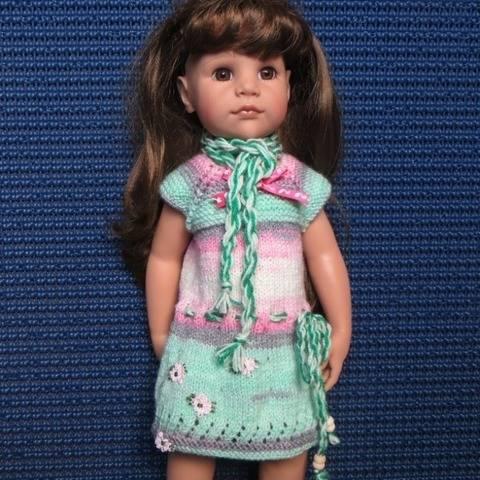 Fiche patron tricot  G17  pour poupée Hannah de Gotz chez Makerist