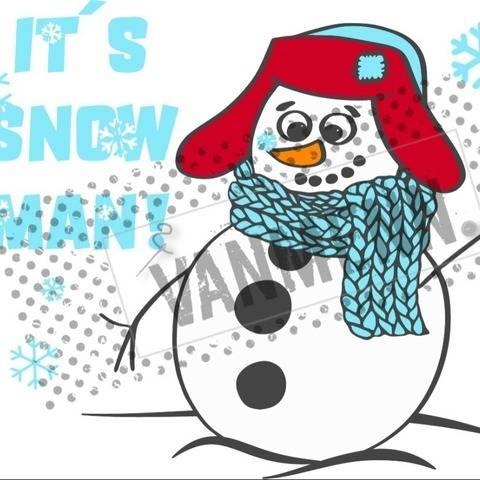 """Plotterdatei """"It´s snow man"""""""