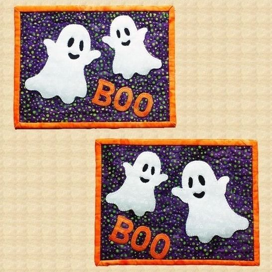 Boo! Quilted Halloween Mug Rugs Pattern at Makerist - Image 1