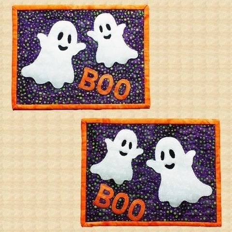 Boo! Quilted Halloween Mug Rugs Pattern at Makerist