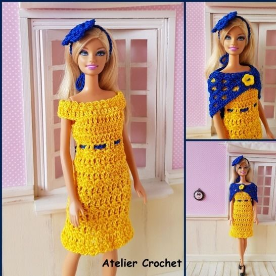 """Anaïs"" crochet pattern for Barbie at Makerist - Image 1"