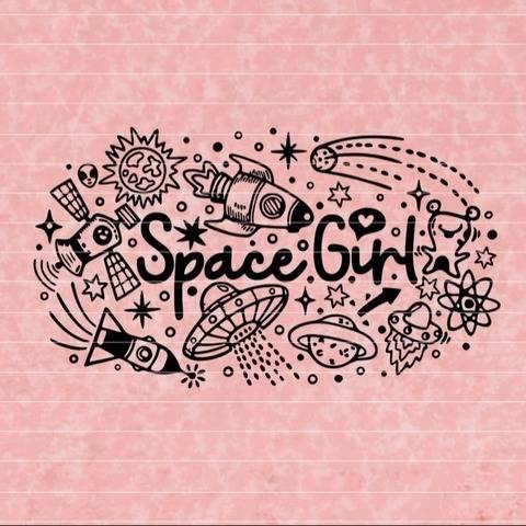 SpaceGirl SVG DXF Plotterdatei