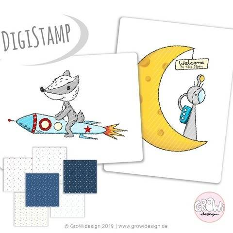 Weltraumentdecker DigiStamp